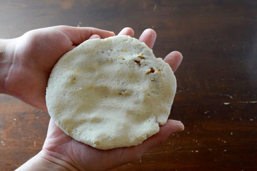 Prepared Pupusas, ready to cook