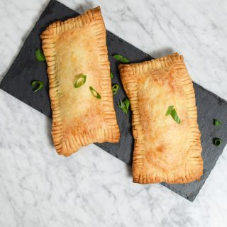 corned tempeh pasties