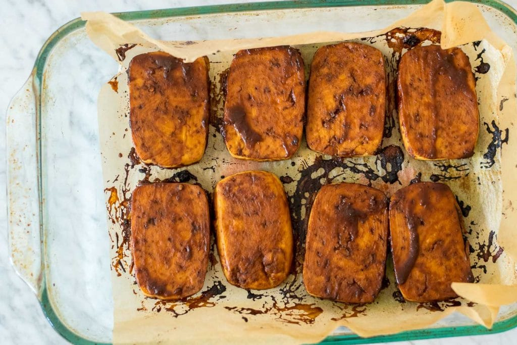 miso-hoisin glazed tofu