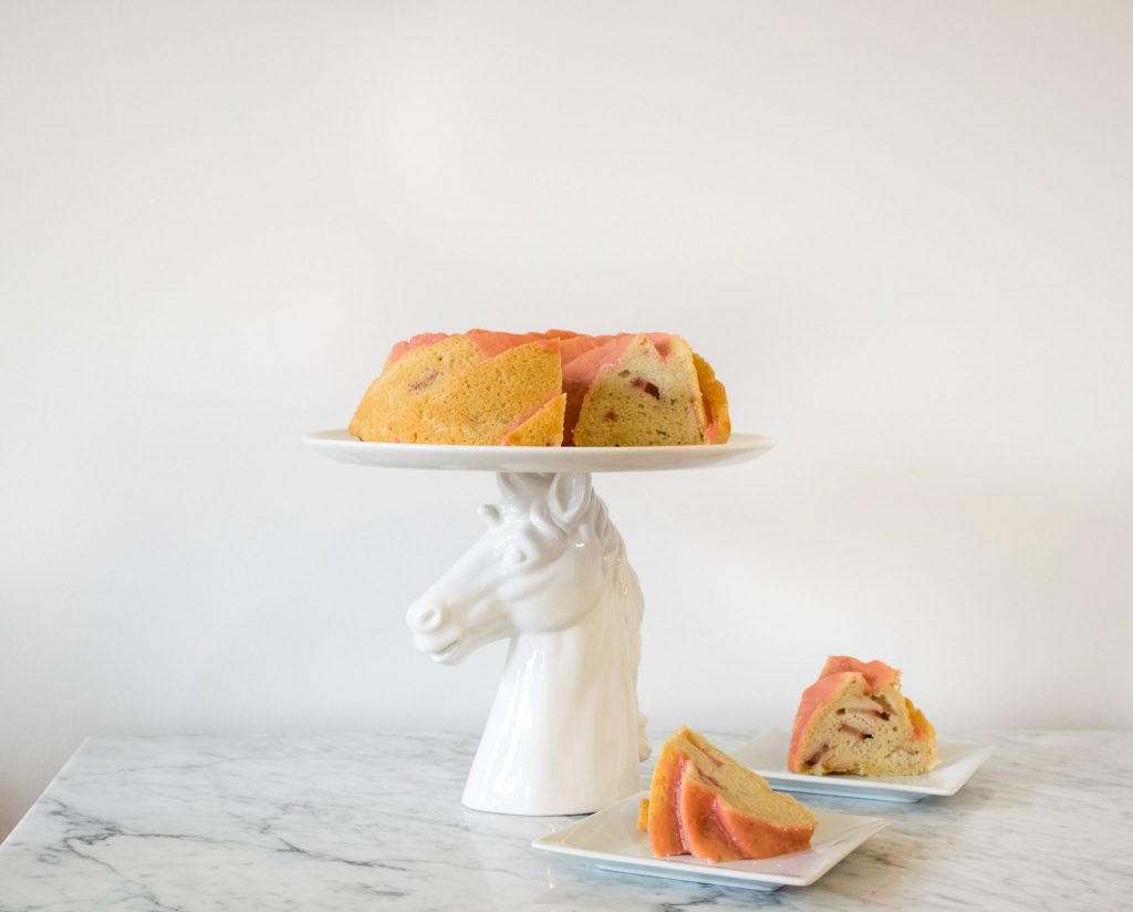 Almond Bundt Cake With Fresh Strawberries