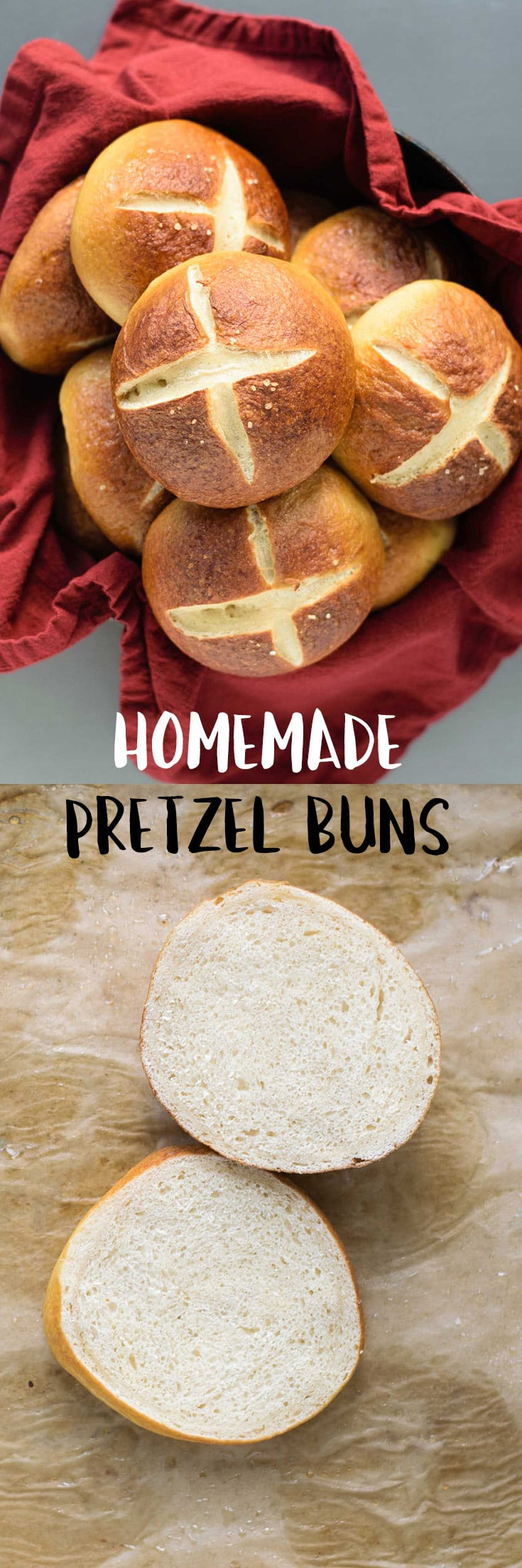 A soft and chewy pretzel bun that's perfect for all your veggie burger and sandwich needs! | thecuriouschickpea.com #vegan #baking