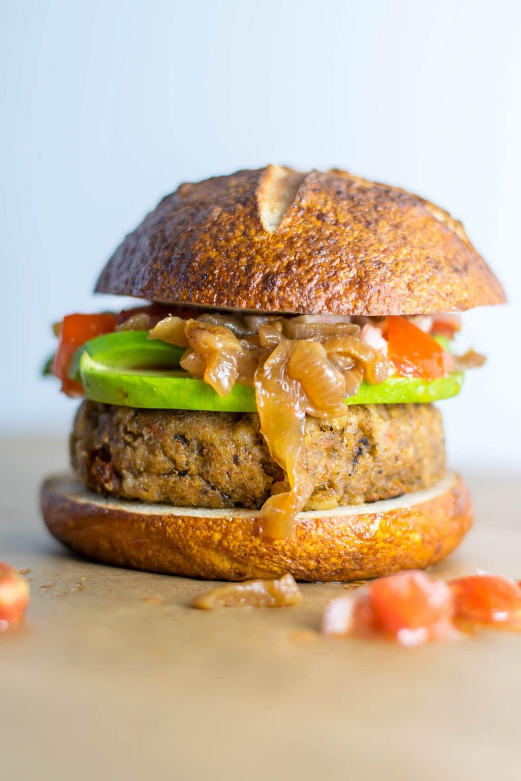stuffed mediterranean veggie burgers greek marinated tomatoes