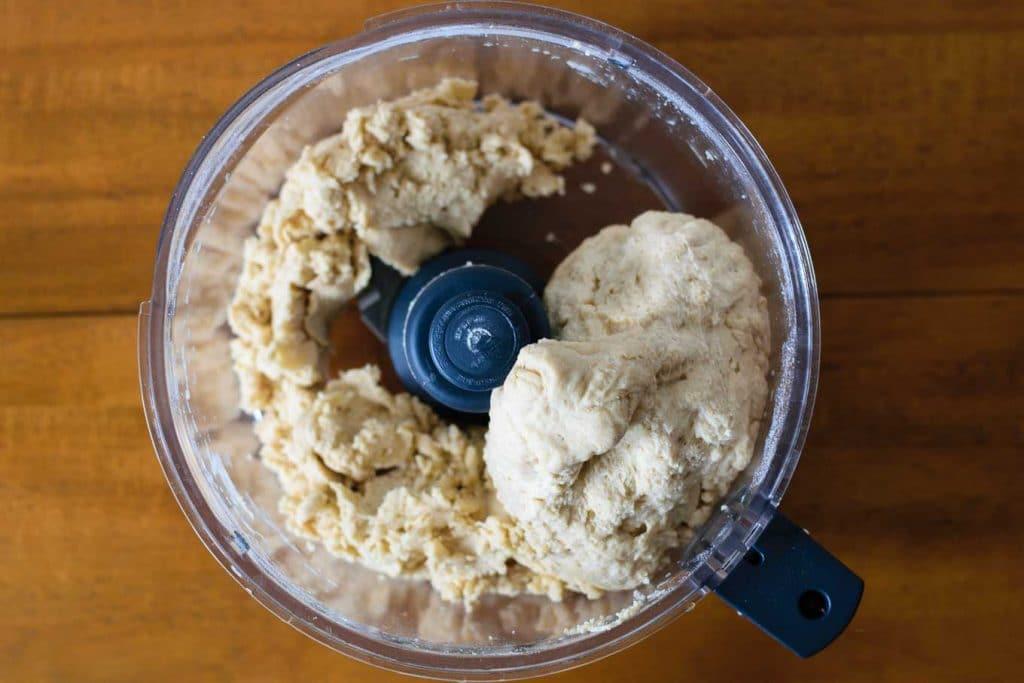bagel dough in food processor