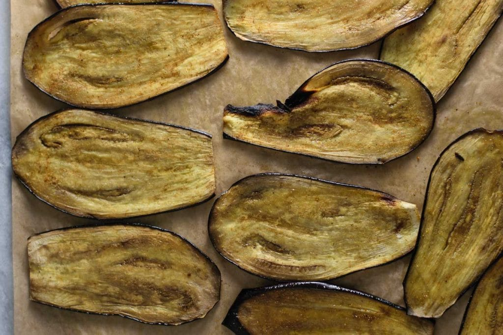 madras curry marinated eggplant