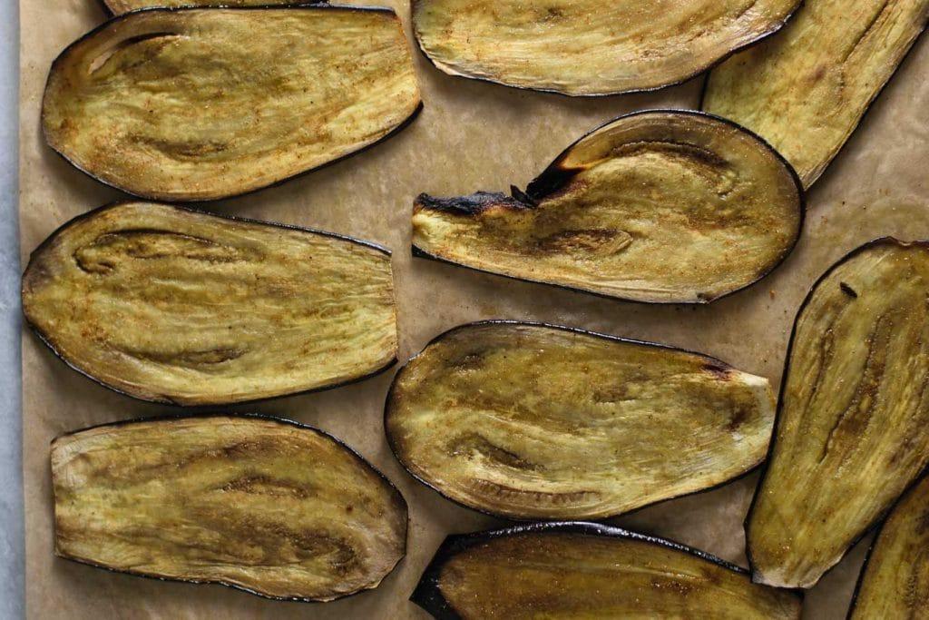 madras curry marinated eggplant