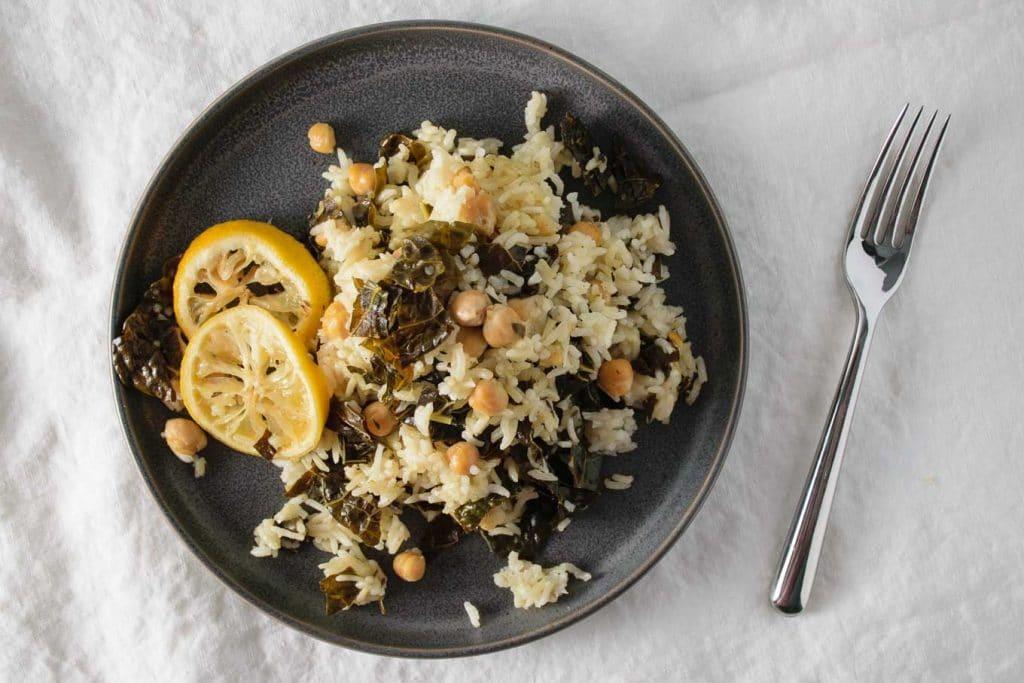 lemon chickpeas and rice