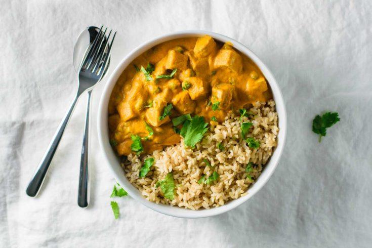 Vegan Mattar Tofu Paneer