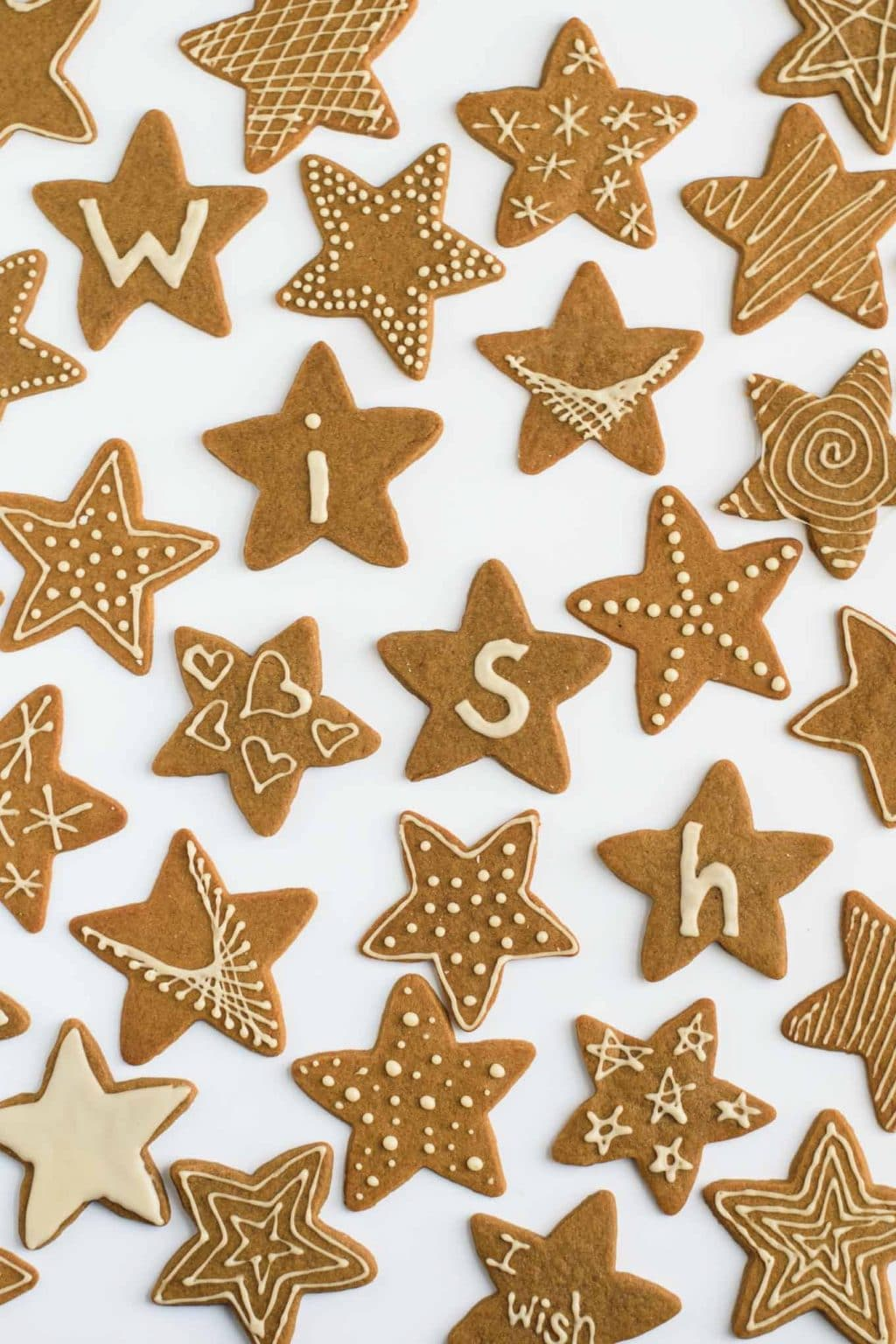 decorated vegan wishing cookies