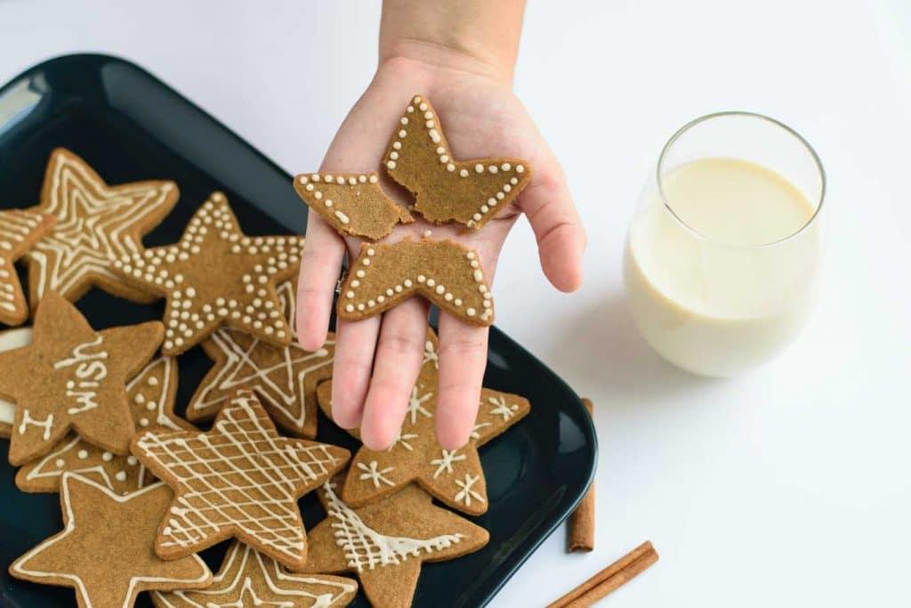 vegan wishing cookies, broken into 3 pieces