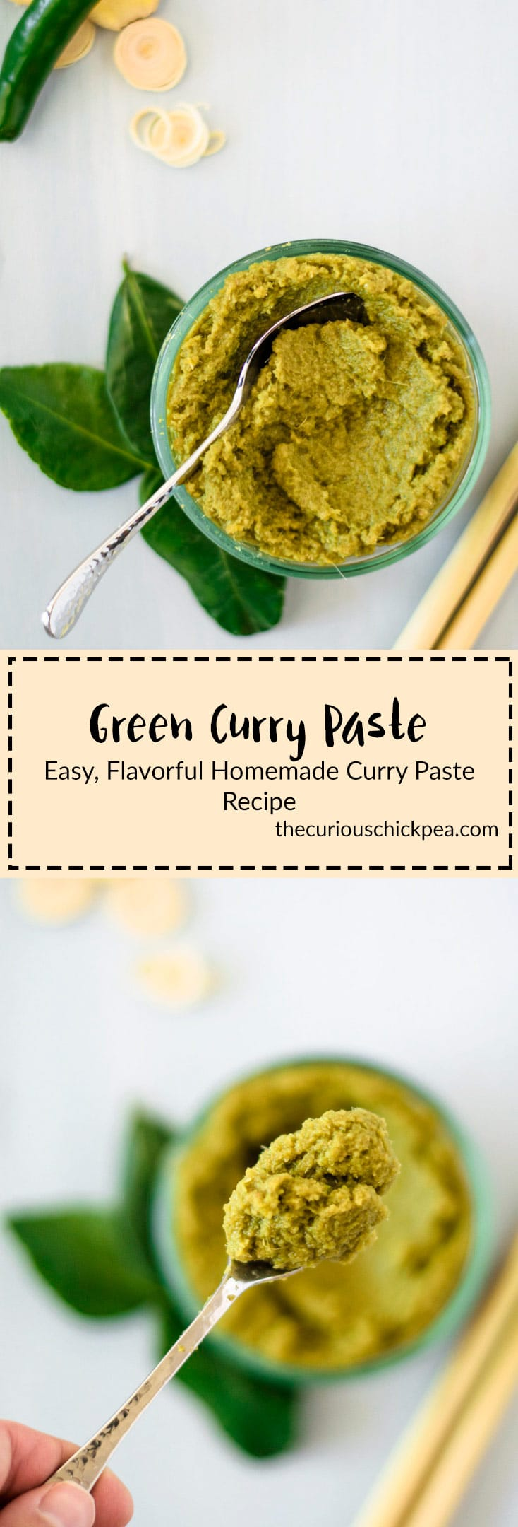Homemade Green Curry Paste | Homemade Thai curry paste is incredibly easy to throw together and tastes so much fresher than store bought versions. Try it for yourself! Vegan, Gluten Free recipe | thecuriouschickpea.com #vegan #curry