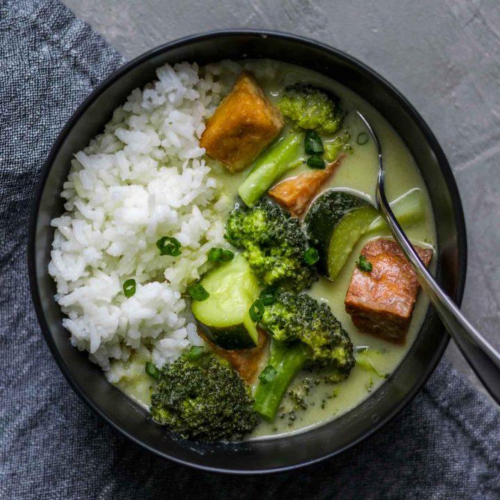 Vegan Thai Green Curry with Tofu