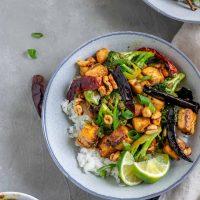 Vegan Kung Pao Tofu with Broccoli