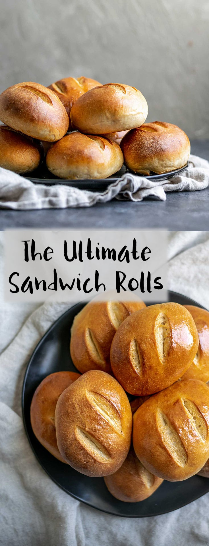 A soft and slightly crusty bread perfect for stuffing with your favorite sandwich fillings. A lightly enriched dough, these ultimate homemade sandwich rolls make great tortas, banh mi, subs, and more! | thecuriouschickpea.com
