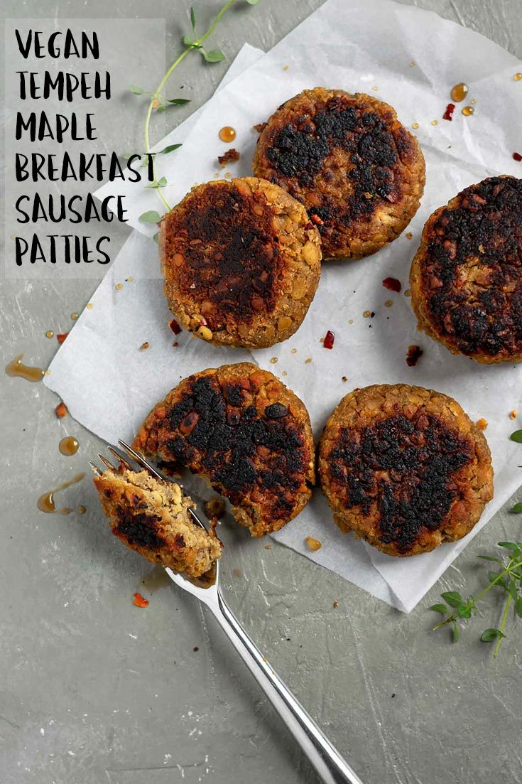 These toothsome maple sage tempeh sausage patties are perfect for your vegan breakfast or brunch. Enjoy with toast, a tofu scramble, and some homestyle potatoes, or use them in a breakfast sandwich! They're easy to make and super delicious! | thecuriouschickpea.com #vegan #veganbrunch #vegansausage #tempeh
