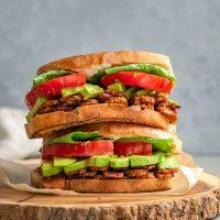Vegan Tempeh BLT Sandwiches