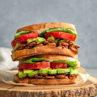 Vegan BLTs with homemade tempeh bacon | thecuriouschickpea.com #vegan #tempeh #sandwiches #BLT