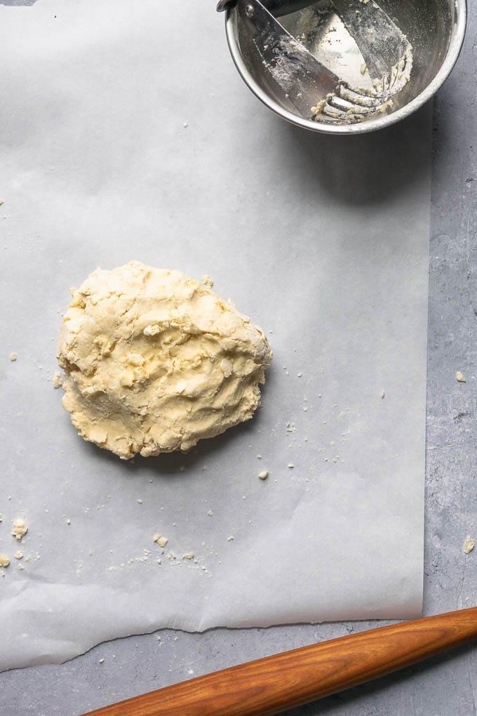 Just mixed ball of dough