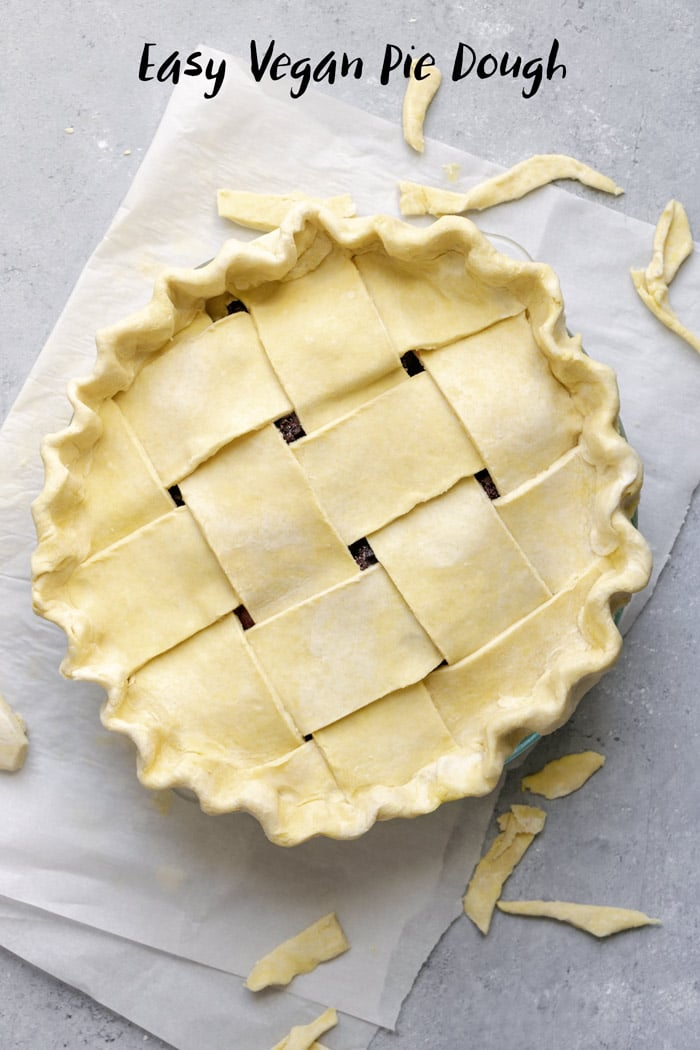 Making the perfect pie crust is all in the technique! This easy vegan pie dough is easy to follow and makes a crumbly and crisp crust. | thecuriouschickpea.com #vegan #pie