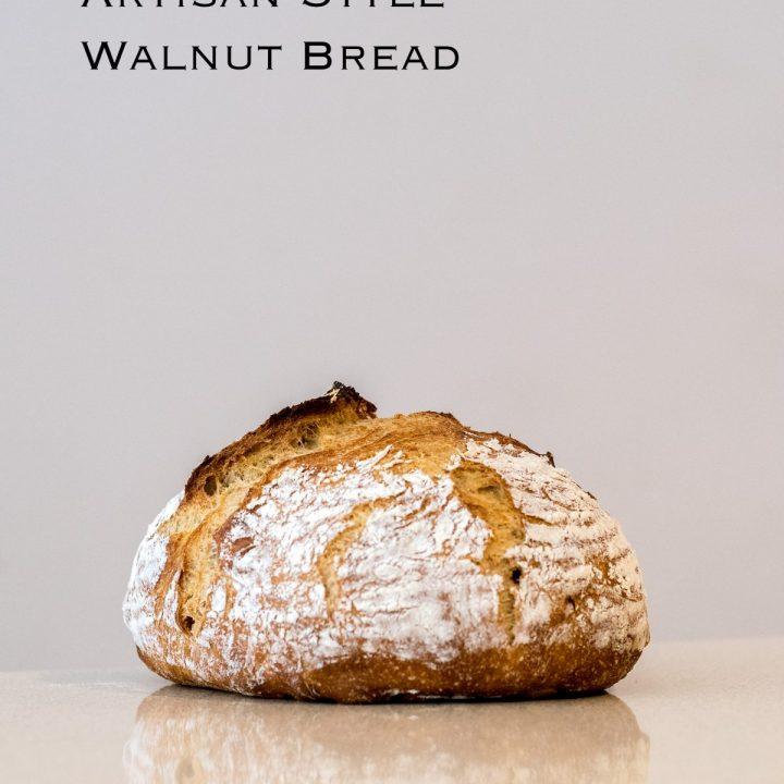 Overnight Artisan Style Walnut Bread