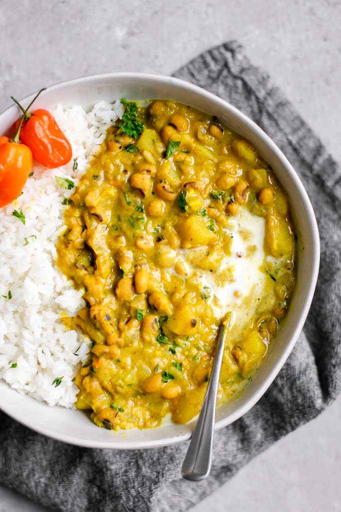 Jamaican Black Eyed Pea Curry
