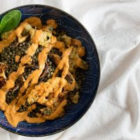 Cauliflower and French Lentils with Smoky Red Pepper Sauce