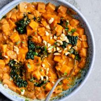 Curry Sweet Potato, Kale, and Peanut Stew