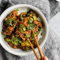 Crispy Orange Seitan and Broccoli