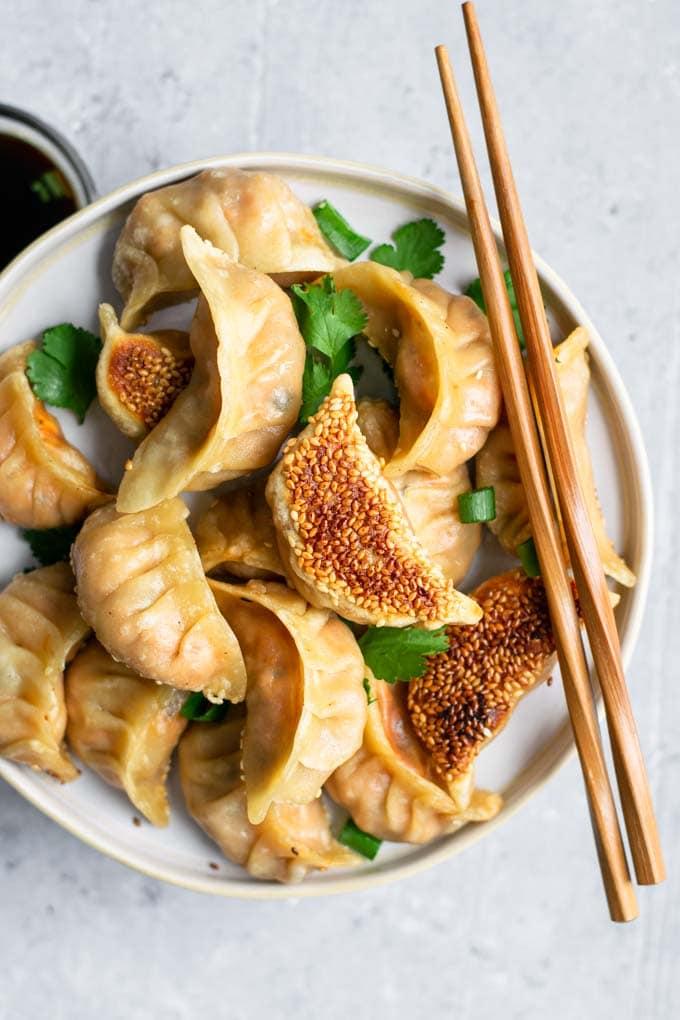 korean gochujang tofu dumplings