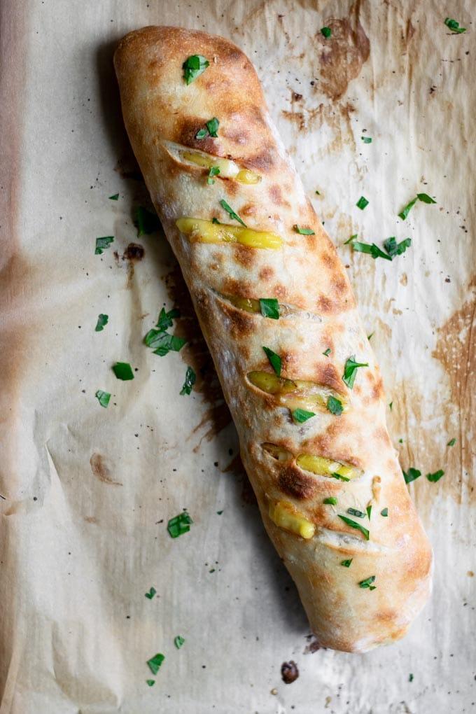 baked vegan stromboli