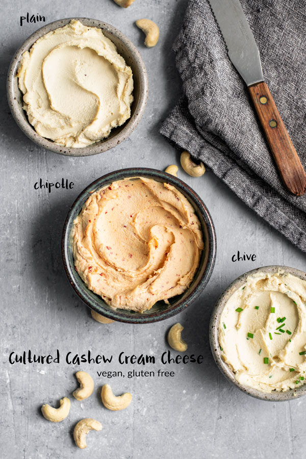 Making your own homemade cultured cashew cream cheese is easy! This thick and creamy vegan cheese is delicious as a spread over bagels or toast, and will quickly become a staple! | thecuriouschickpea.com #vegancheese #vegan #cashewcheese #creamcheese