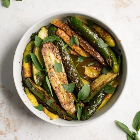 Marinated Zucchini with Mint and Thai Basil