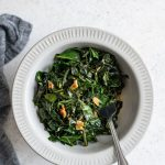 smoky collard greens served in a bowl