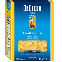 De Cecco Semolina Pasta, Fusilli No.34, 1 Pound (Pack of 5)