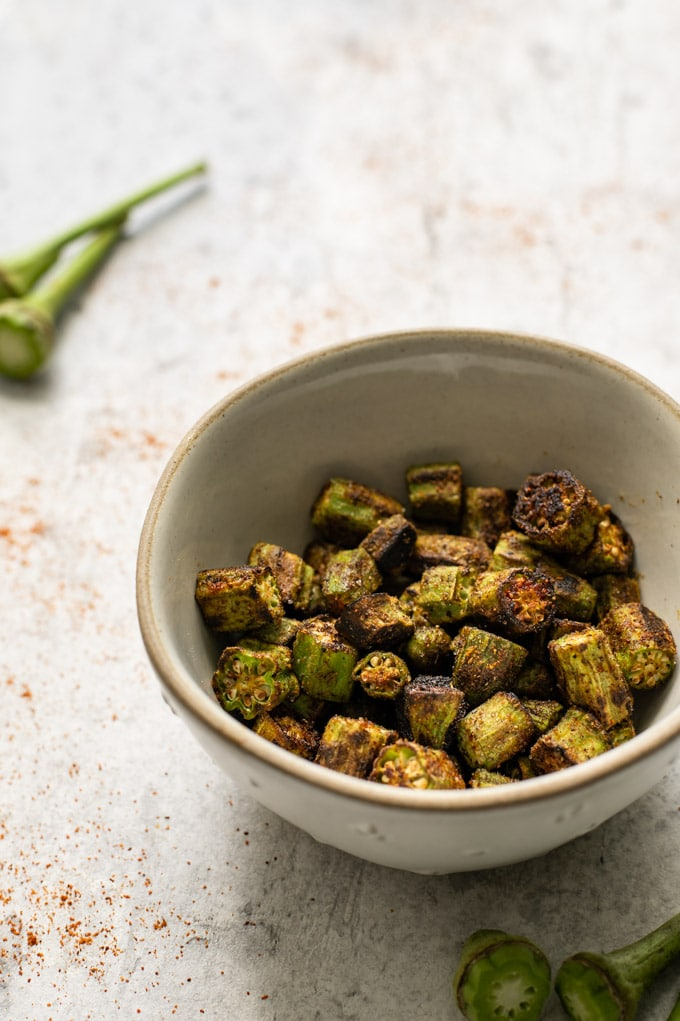 Bhindi Masala Dry Fry Indian Okra The Curious Chickpea