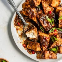 Tofu with Black Bean Sauce