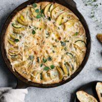 Vegan Potato and Zucchini Gratin