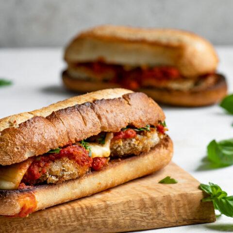 Vegan Chicken Parmesan Sandwiches