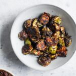 harissa roasted brussels sprouts
