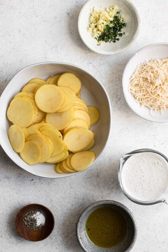 ingredients for vegan potato stacks