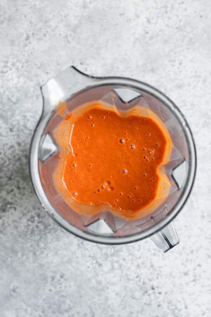 sauce blended in blender