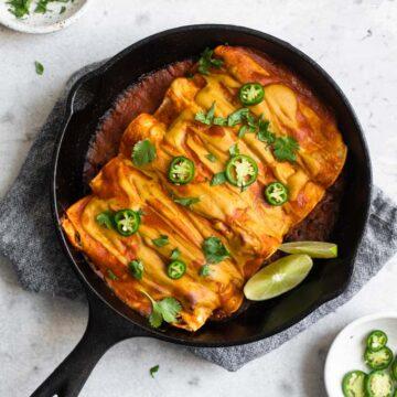 lentil enchiladas served