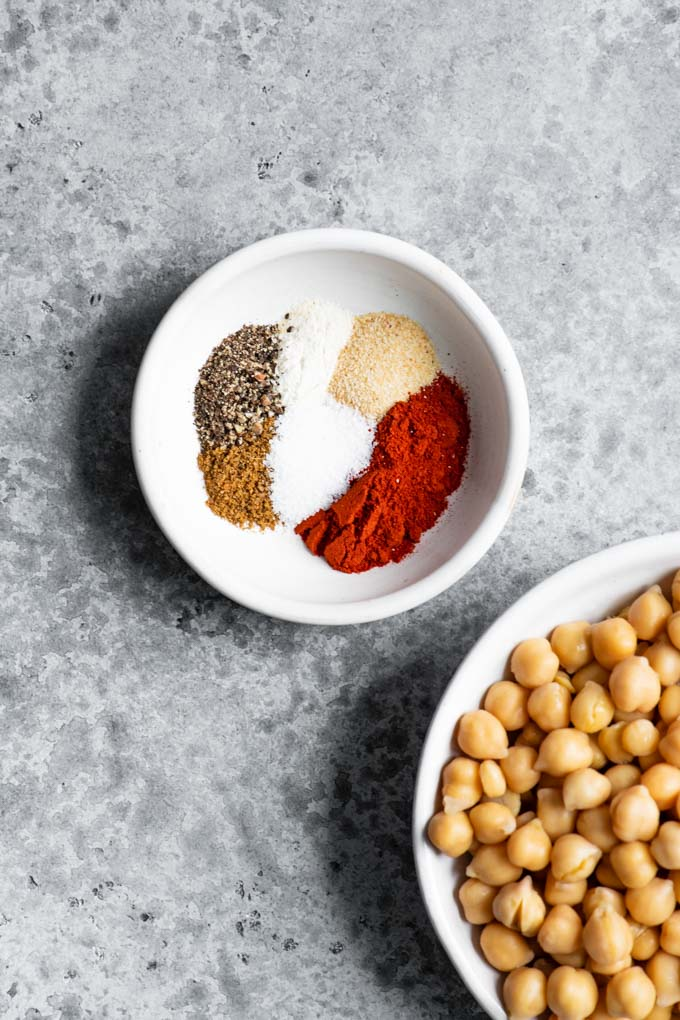 ingredients for chorizo chickpeas
