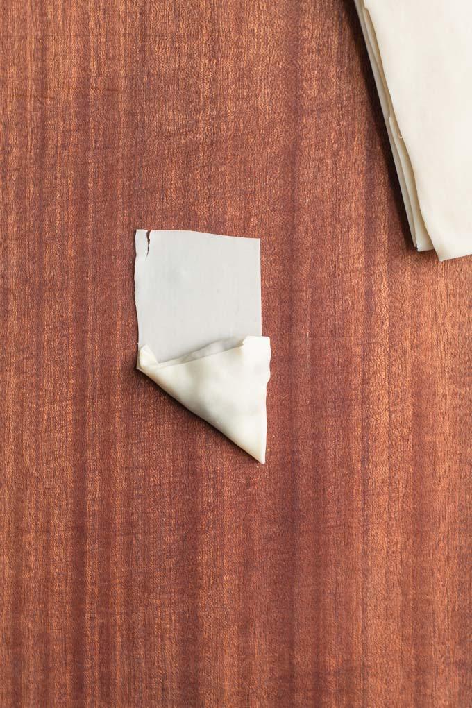 third fold of samosa shaping