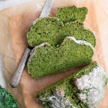 sliced kale soda bread