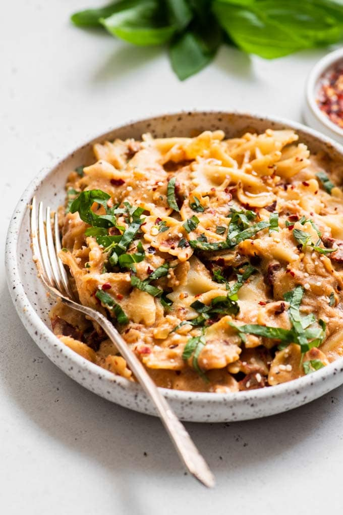 sun dried tomato cream bowtie pasta