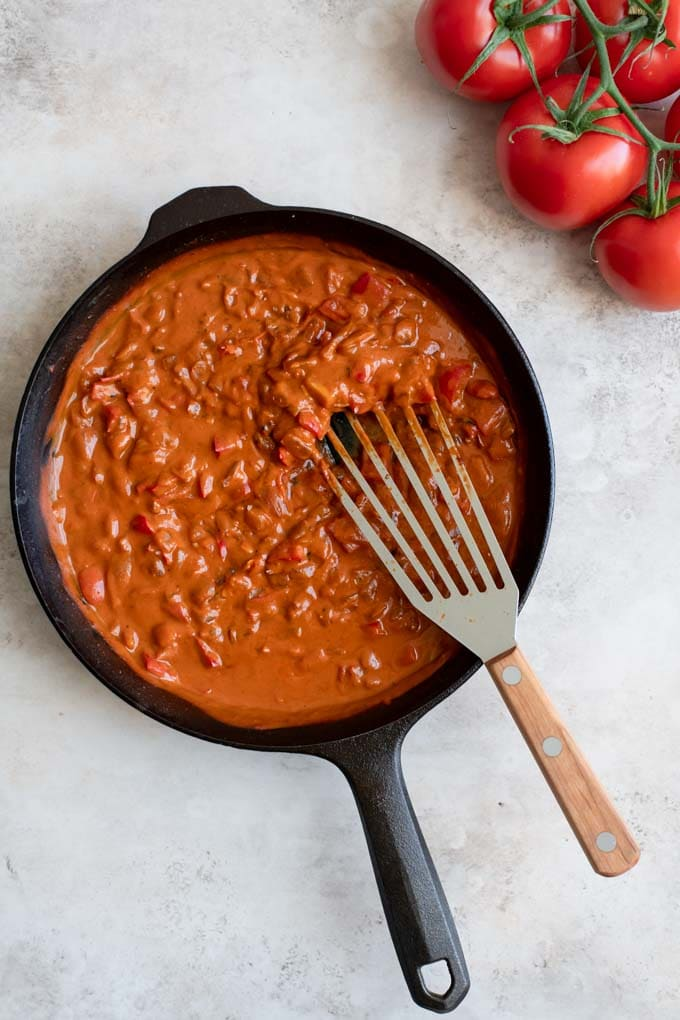 cooked shakshuka tomato sauce