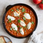 vegan shakshuka with tofu ricotta