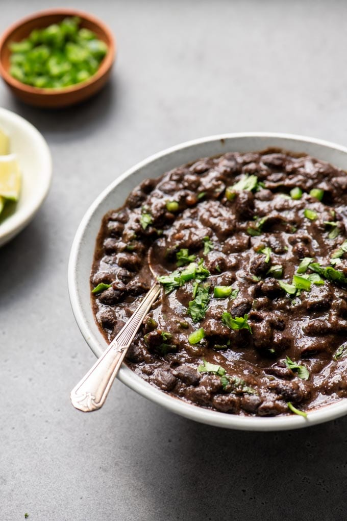 seasoned black beans in a bowl