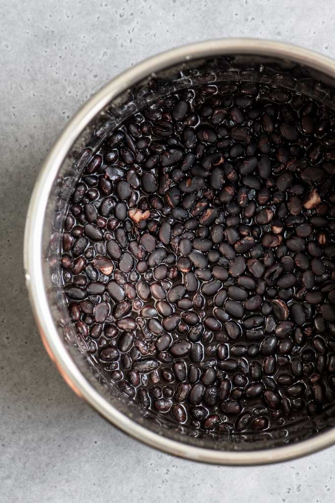 cooked black beans, plain