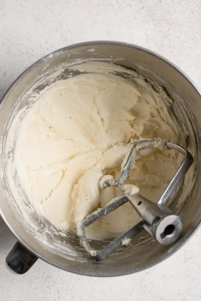 sugar whipped into the vegan butter and shortening